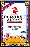 Puroast Coffee K-cups Low Acid Single Service (Decaf House Blend, 1 Box)