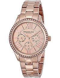 Stuhrling Original Women's 391LS.03 Symphony Regent Majestic Sterling Eccles Quartz Swarovski Crystal Rose Tone Bracelet Watch