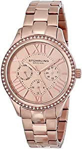 "Stuhrling Original Women's 391LS.03 ""Regent Lady"" Swarovski Rose Tone Dress Watch"