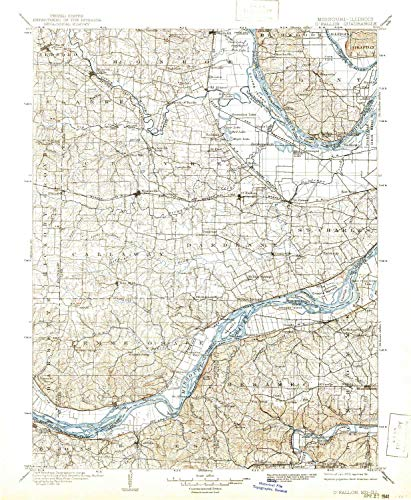 O Fallon MO topo map, 1:125000 Scale, 30 X 30 Minute, Historical, 1903, Updated 1941, 19.8 x 16.3 in - Paper -
