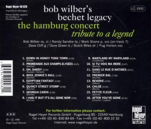 The Hamburg Concert: Tribute To A Legend by Nagel-Heyer Germany