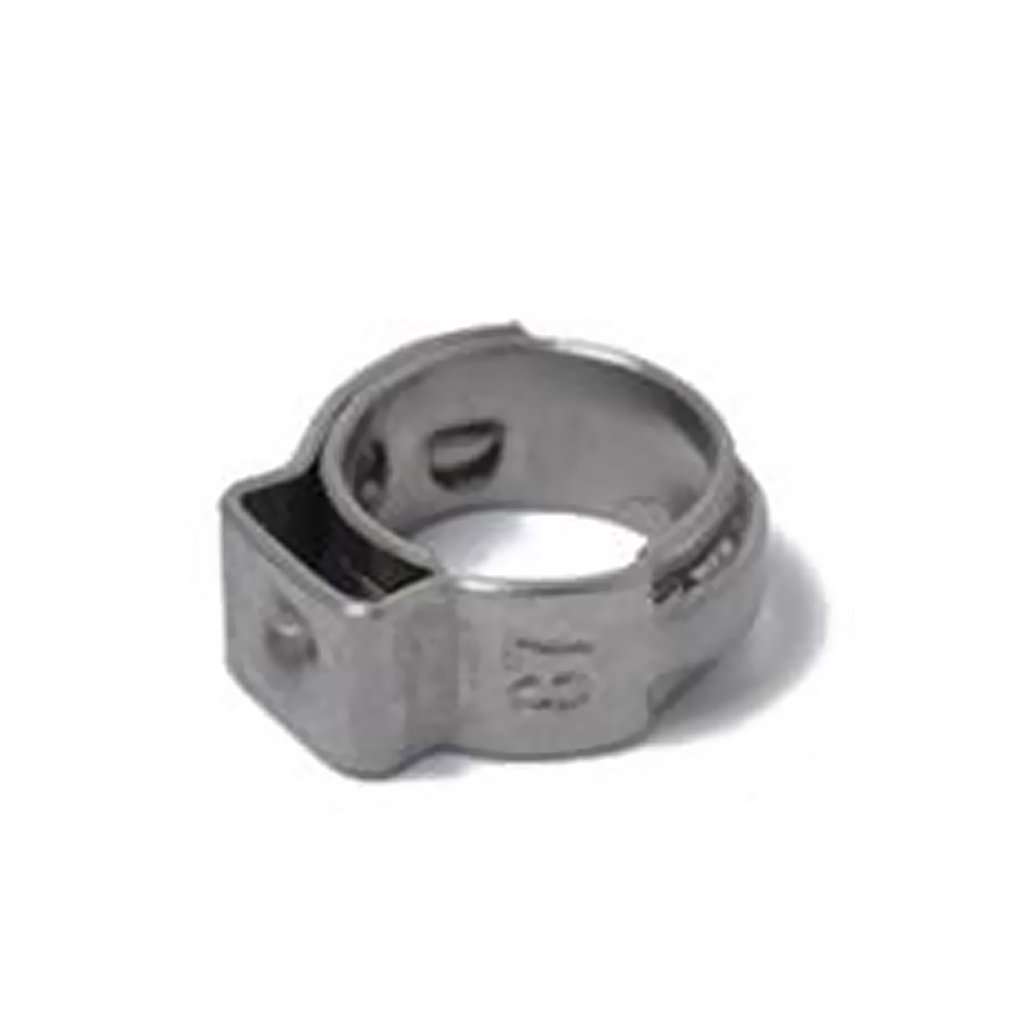 MagiDeal 100pcs Stainless Steel Single Ear Plus Hydraulic Fuel Hose Clamps 5.3mm-6.5mm~11.5mm-14.0mm
