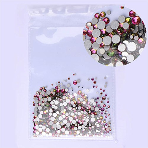 Mix Sizes 1000Pcs/Pack Crystal Clear Ab Non Hotfix 3D Nail Art Decoration Gems Rainbow 1000 pcs