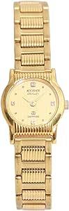 ساعة يد نسائية من اكيورت، دائرية، ذهبي، ALQ330