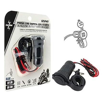 ZIM&MANN Cargador USB Doble 12/24 V.: Amazon.es: Coche y moto