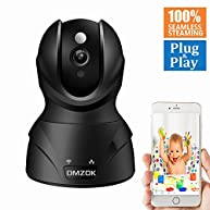 DMZOK WiFi Wireless Security Camera, Baby Pet Camera, Nanny Cam, ProHD 1080P Home Surveillance IP Camera with Night Vision Two Way Audio Motion Detection for Indoor