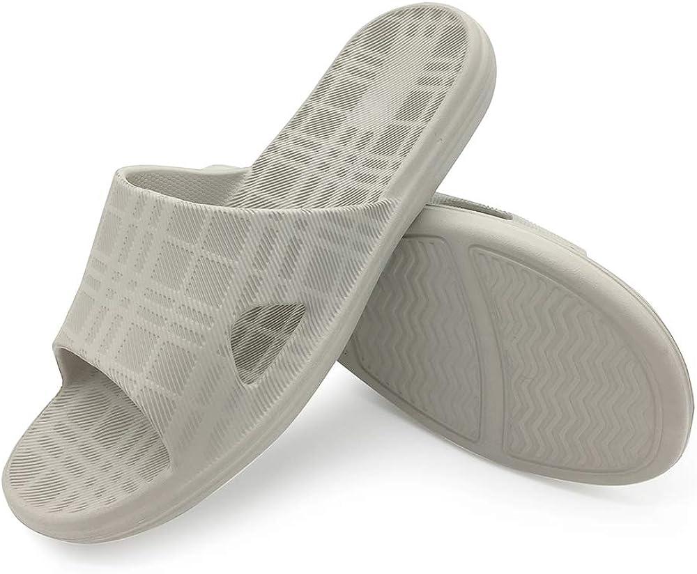 HEVA Bathroom Slippers Mens Slide Shower Open Toe Sandals Womens Non Slip Beach Indoor House Shoes