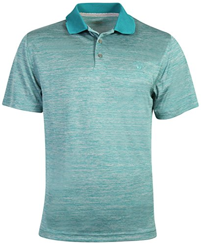 Athletic Club (Beverly Hills Polo Club Men's Athletic Performance Sport Polo, Teal Heather, X-Large)