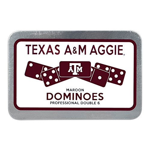 Dominoes Pack (C.C. Creations Texas A&M Aggie Maroon Dominoes, Professional Double 6)