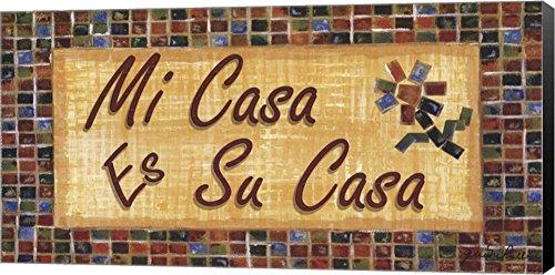 Mi Casa ES Su Casa by Grace Pullen Canvas Art Wall Picture, Museum Wrapped with Black Sides, 20 x 10 inches (Casa Casa Es Mi Art Su Wall)