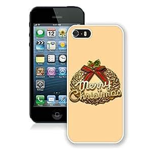 Niche market Phone Case Christmas Wreath iPhone 5 5S TPU Case 3 White