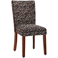 Kinfine Parsons Upholstered Accent Dining Chair, Set of 2, Leopard