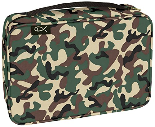 - Divinity Boutique Bible Cover Basic Woodland Camo, Large (21434)