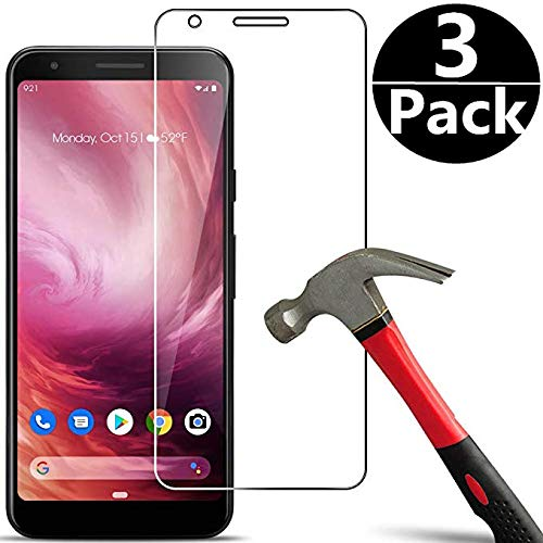 Screen Protector Guard Film -           [3 Pack] Compatible with Google Pixel 3a Screen Protector,Suplasway [Bubble Free] [Easy Installation][HD-Clear][Anti-Scratch] Tempered Glass Screen Protector Film for Google Pixel 3a