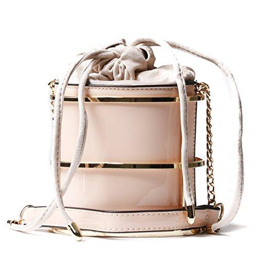 Handbag Republic Womens Vegan Patent Leather Mini Bucket Messenger Style - Timeless Bag Bucket