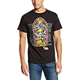 Nintendo Men's Stained Glass T-Shirt, Black, X-Large