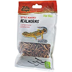 Zilla Reptile Munchies Mealworms Reptile Food, .5 oz.