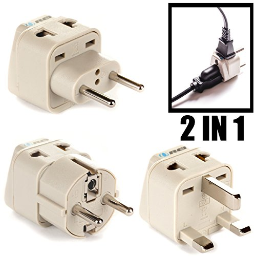 Orei 7 World Travel Adapter Plug Set Safe Grounded For