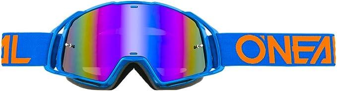 O Neal B20 Flat Goggle Mx Dh Brille Blau Radium Oneal Bekleidung