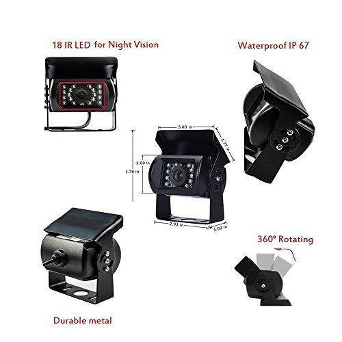 Camecho Rc 12v 24v Car Backup Camera Rear View Wireless Ir