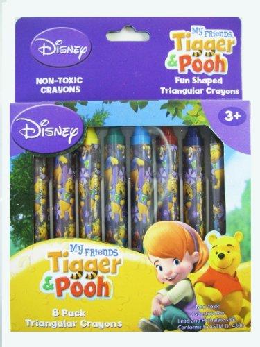 Disney Winnie the Poohクレヨン–8パックTriangularクレヨンセット[おもちゃ]
