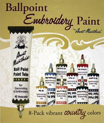 Aunt Martha's Ballpoint Paint Tubes-Country Colors 1 pcs sku# 1172373MA