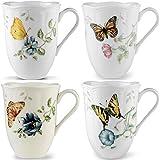 Lenox Butterfly Meadow 12oz Mugs, Assorted Set of 4