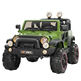 Uenjoy Kids Electric Power Wheels 12V Ride on Cars with Remote Control 2 Speed Green