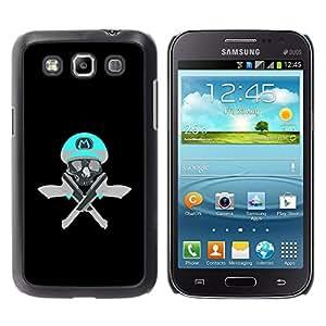 Shell-Star Arte & diseño plástico duro Fundas Cover Cubre Hard Case Cover para Samsung Galaxy Win / I8550 / I8552 / Grand Quattro ( Skull Funny M Game Retro Guns Pistols )