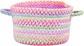 product image for Capel Rugs Baby's Breath 16 in. x 9 in. Braided Basket (Pink)