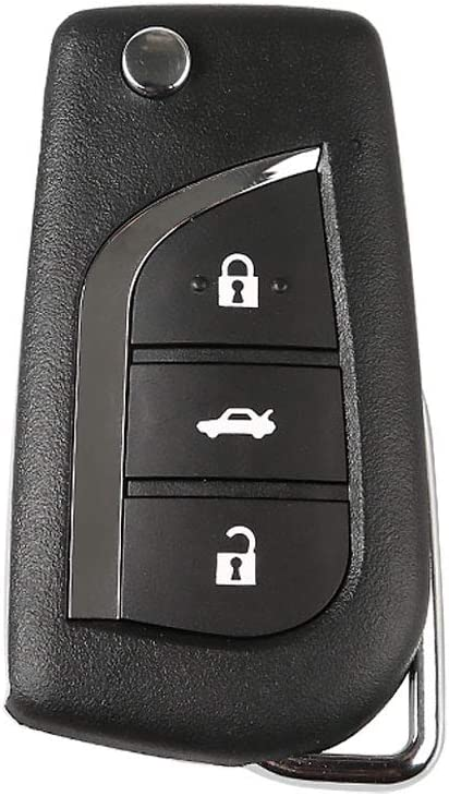 Pack of 5 XHORSE XN008 Style Wireless Universal Remote Car Key XNTO00EN 3 Buttons for Toyota
