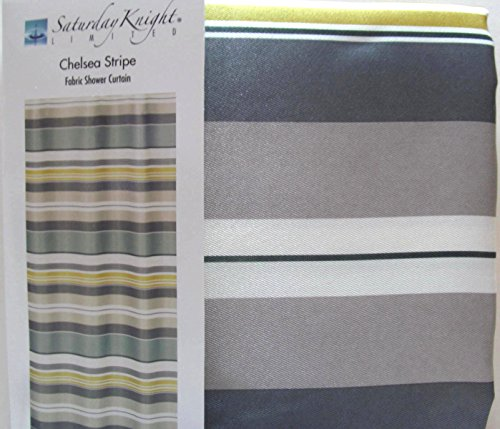 Chelsea Stripe Shower Curtain Horizontal stripes