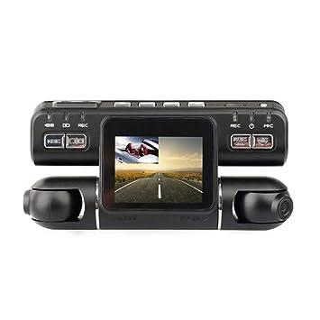 Cámara para salpicadero de coche Ultra HD con doble lente incorporada GPS WiFi FHD 1080P frontal
