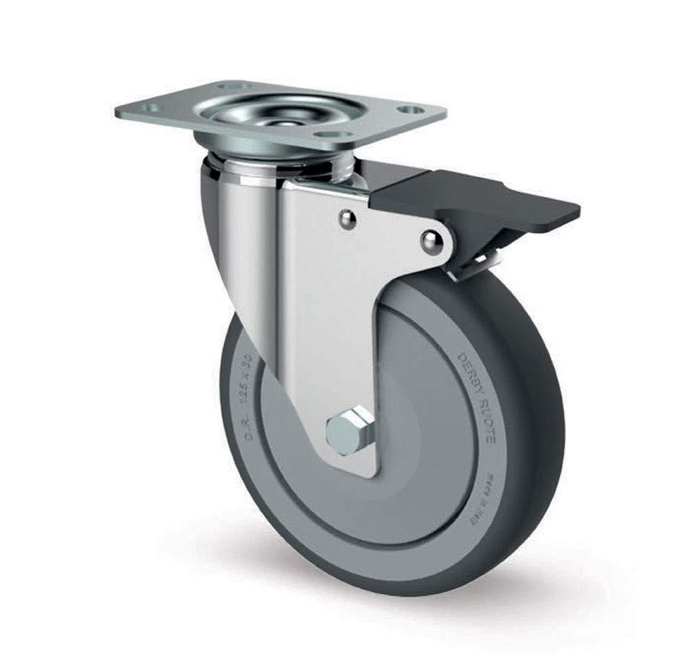 roue de TPE fixation trou central et sans frein Roulette FSC7 MGP de 100 mm