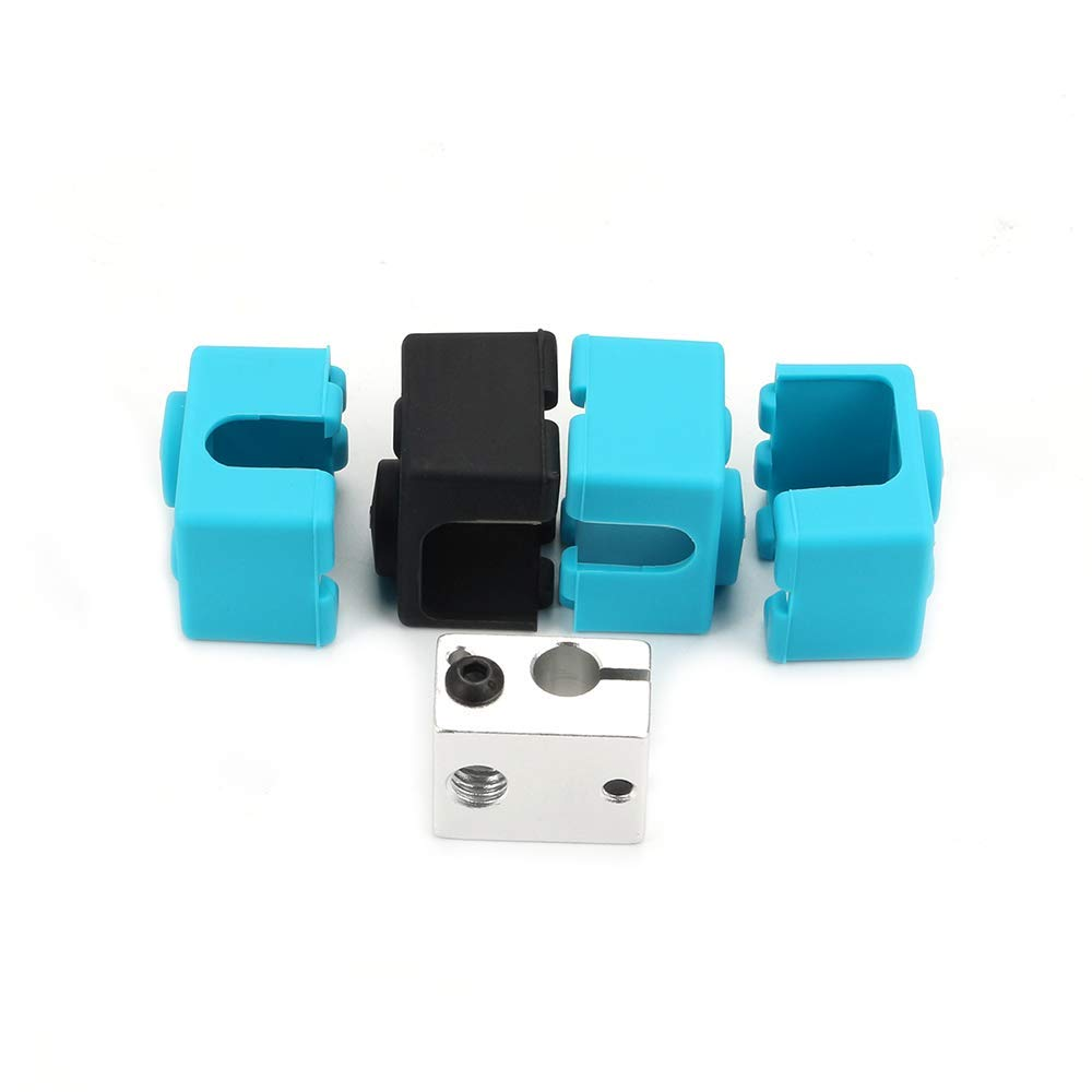 Heater Protect Silicone Cover Blue 20x15.9x12mm 3 Pack FYSETC 3D V6 Socks 3D Printer Heater Block Silicone Sock V6 hotends