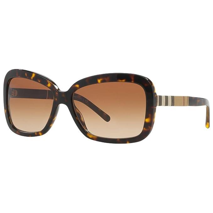 Amazon.com: Burberry be4173 de mujer anteojos de sol, Marrón ...