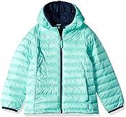 Amazon Essentials Girls' Lightweight Water-Resistant Packable Hooded Puffer Ja