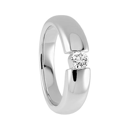 Diamond Line Damen - Ring 585er Gold 1 Diamant ca. 0,20 ct.