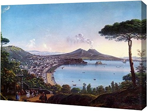 North Frigate Bay - The Bay of Naples with an American Frigate by Nicolino Calyo - 11