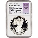 1990 S American Silver Eagle Proof $1 PF69 UCAM - Jones Signed NGC