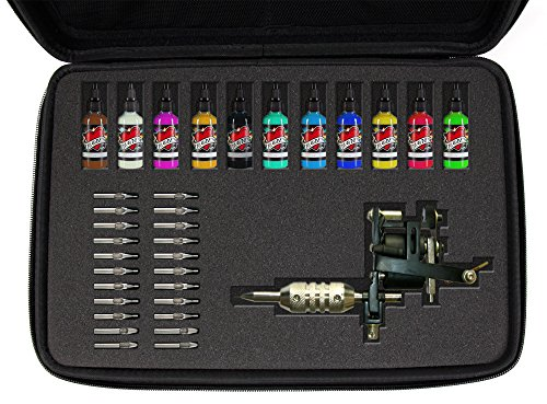 DURAGADGET Black EVA Case w/Fully-Customizable & Shock-Absorbing D.I.Y Foam Interior – Suitable for Use with Tattoo Guns and Needles : CASE ONLY – Tattoo Equipment NOT Included