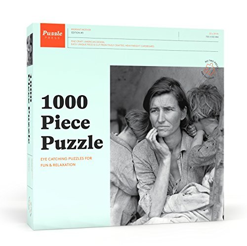 Puzzle Press Migrant Mother Edition 3 Jigsaw Adult Puzzle, 1000-Piece, Black and White Photo