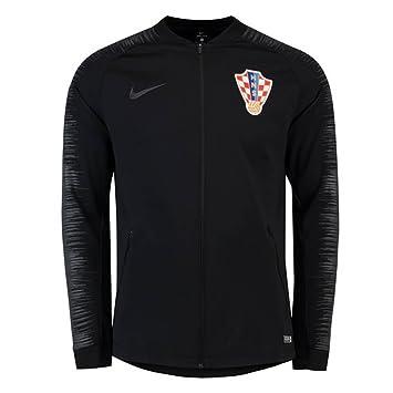 4e47b7bbca21 Nike 2018-2019 Croatia Anthem Jacket (Black)  Amazon.co.uk  Sports    Outdoors