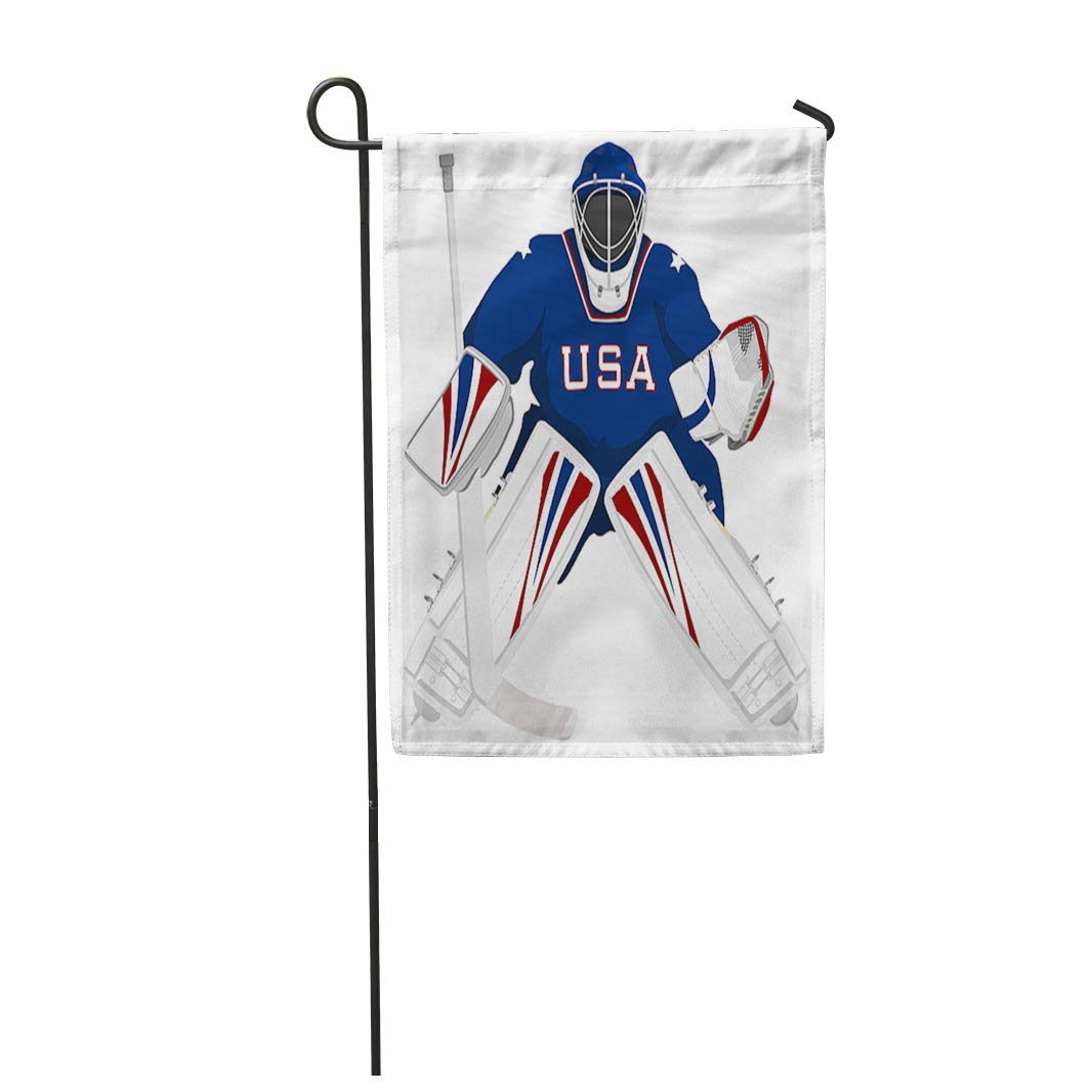 Amazon Com Semtomn 12 X 18 Garden Flag Ice Team Usa Hockey Goalie