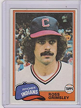 1981 Topps Ross Grimsley Indians Baseball Card 170 At Amazons