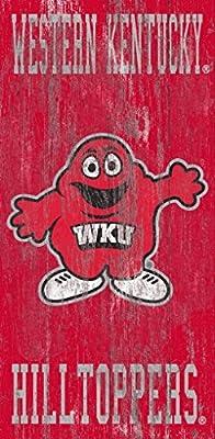 Fan Creations Western Kentucky Heritage Distressed Logo w/Team Name 6x12 w, One Size, Multi