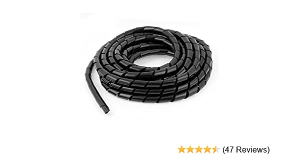 uxcell a15060100ux0660 PC Cinema TV Cable Tidy Wrap Organizer Spiral Wrapping Band 12mm 6.5M