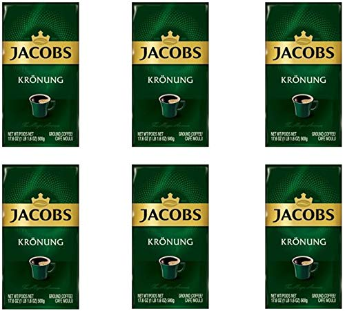 Jacobs Kronung Ground Coffee 500 Gram / 17.6 Ounce (Pack of 6) by JACOBS