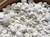 WHITE Clay in the granules edible chunks (lump) natural for eating (food), 8 oz (220 g)