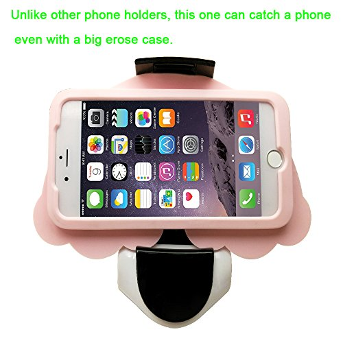 Car Phone Holder,Phone Mount Universal Car Lovely Cute Interesting Cool Funny Fun Design for iPhone 7/7P/6s/6P/5S, Galaxy S5/S6/S7/S8, Google, LG (White)
